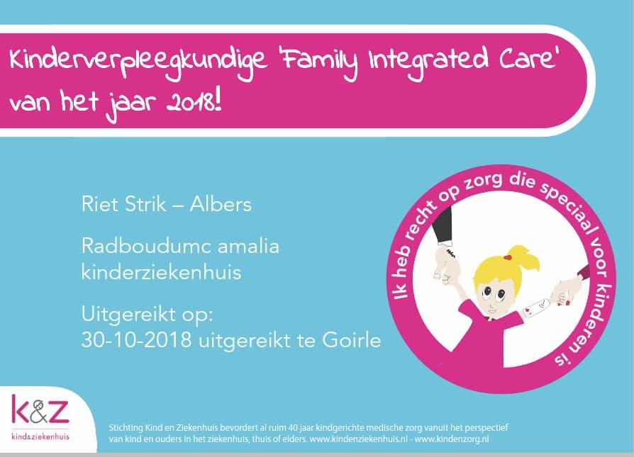 Riet Strik kinderverpleegkundige 2018