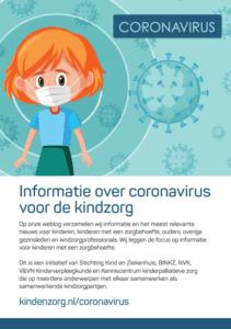 Flyer coronavirus verwijzing website